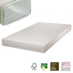 El colchón para alérgicos de látex natural Samar Comfort incluye funda desenfundable de algodón orgánico en acabado Drill. - Ítem