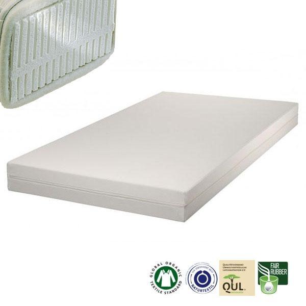 Colchón para alérgicos de látex natural Samar Premium Plus para la distribución óptima del peso y por lo tanto un apoyo correcto del cuerpo.