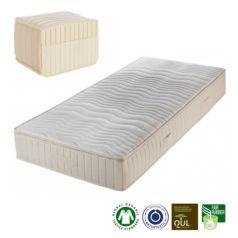 Colchón de látex natural Sarai, compuesto por 15 cm de látex natural con 5 zonas diferenciadas, una muy cómoda a la altura de los hombros.