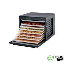 Deshidratador Sedona dispone de nueve compartimentos y tres programas para deshidratar los alimentos a diferentes temperaturas, entre los 30 y los 68 ºC.
