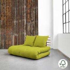Sofá cama Shin Sano natural, original y divertido sofá cama de diseño confortable. Es un sofá de dos plazas que sin esfuerzo se convierte en una cama doble.