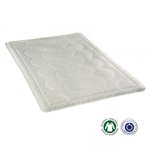El edredón de seda Siena verano de Prolana es de seda salvaje certificada y la cubierta de algodón orgánico
