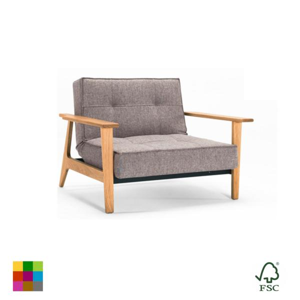 Sillón reclinable Splitback Frej