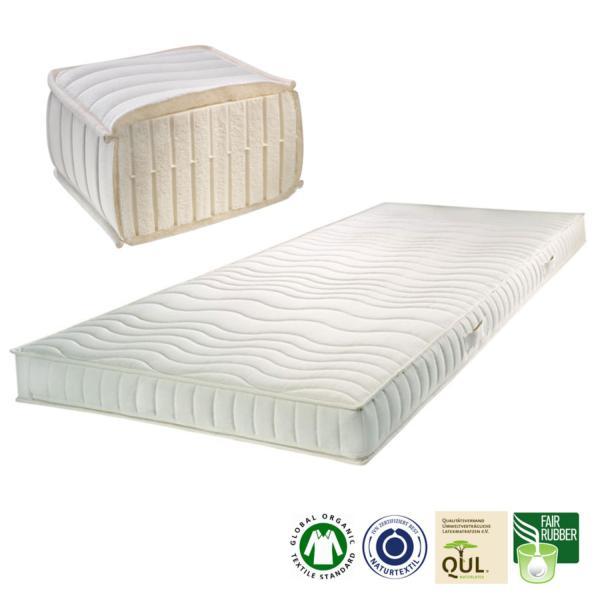 El colchón de látex natural SleepLine1 está indicado para personas con un peso corporal no superior a los 85 kg. Indicado para personas que suelen dormir de lado.