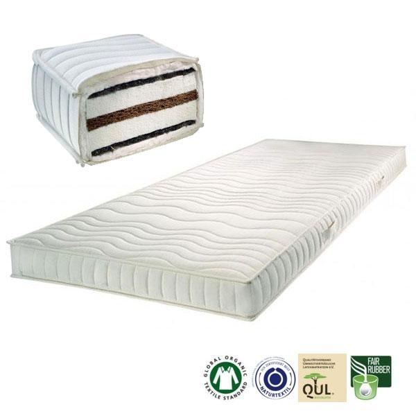 Colchón de látex natural, fibra de coco y crin de caballo SleepLine4 fabricado en Alemania por Prolana