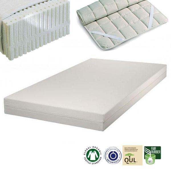 El colchón de látex natural para alérgicos Sleep Line 2 tiene un núcleo que se compone de látex 100% natural con 5 zonas diferenciadas para un óptimo descanso.