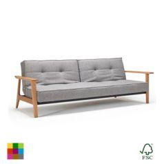 el sofá-cama Splitback Frej puede complementarse con el sillón Eik para convertirlo en una lounge comodísima.
