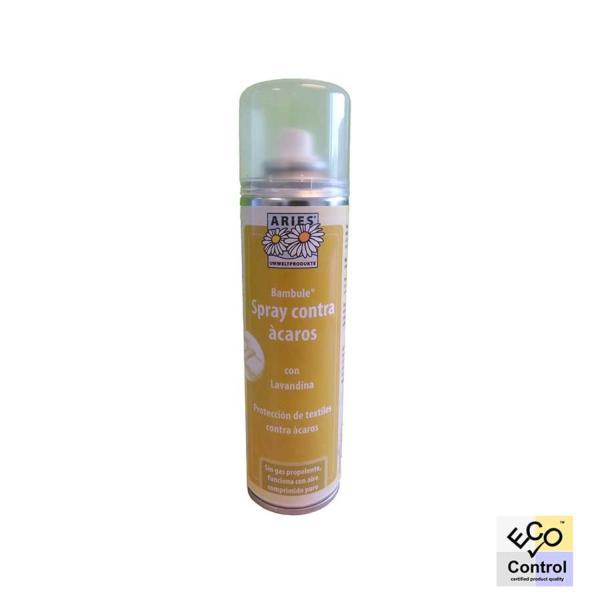 Bambule Spray es un antiácaros ecológico apto para cualquier tipo de textil del hogar (alfombras, moquetas, tapicerías, etc).