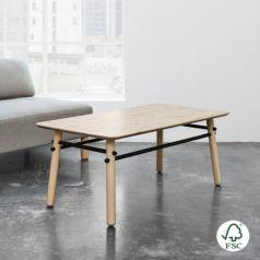 Mesa de centro ecológica fabricada en madera de pino maciza