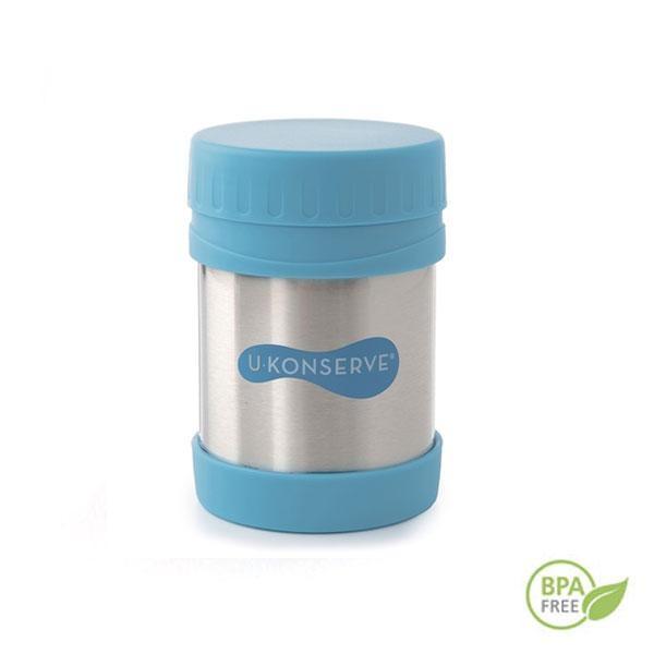 La fiambrera termo azul mantiene la temperatura de los alimentos durante horas.