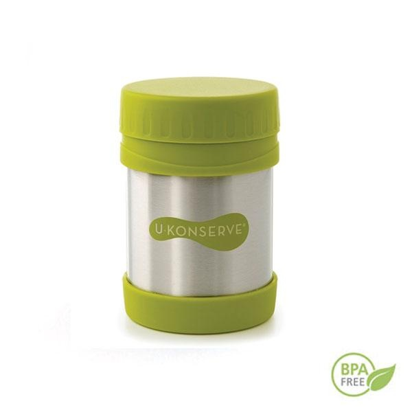 La fiambrera termo verde dispone de doble pared y aislamiento al vacío con lo que puede mantener la comida caliente hasta 5 horas y la fría hasta 8.