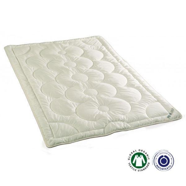 El edredón de lana Teramo verano de Prolana es de lana natural de oveja y el forro de algodón orgánico certificado.