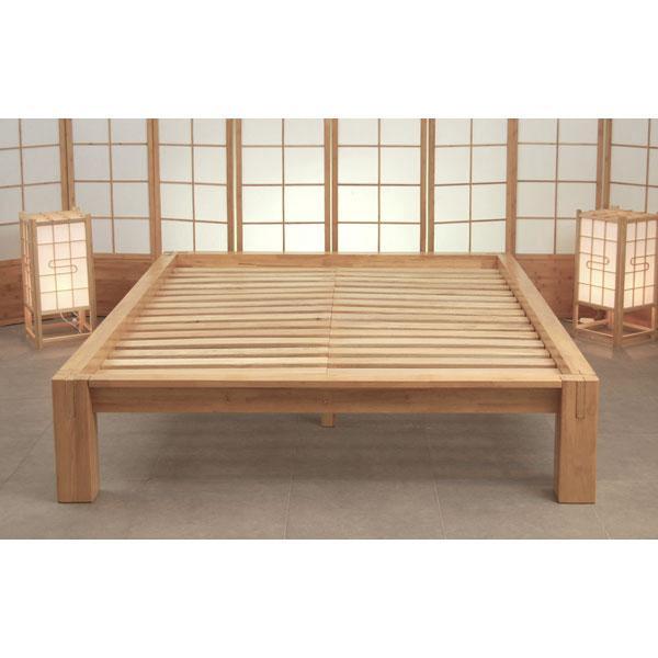 Cama japonesa tokio for Camas en madera economicas
