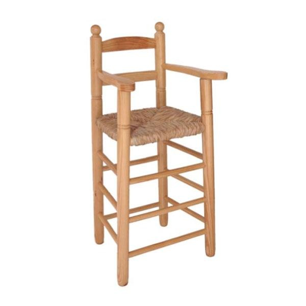 Trona madera natural asiento de enea