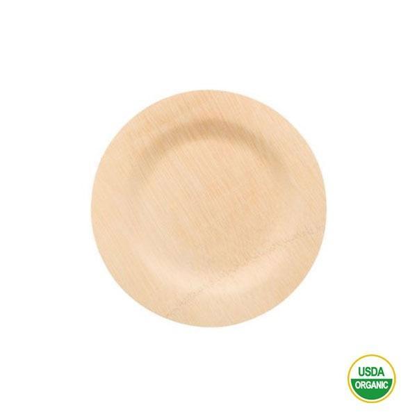 Los platos de bambú redondos pequeños 18 cm para barbacoas, picnics, recepciones formales o fiestas.