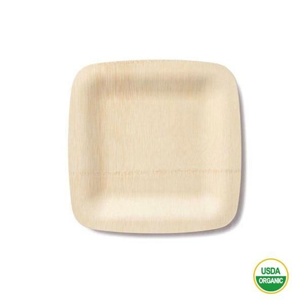 Los platos bambú cuadrados pequeños 18 cm gracias a su composición de 3 capas la sensación rígida que transmite toda la gama, y que la diferencia de las platos empapados de papel flexible