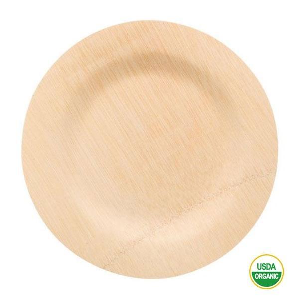 Platos bambú redondos grandes 28cm
