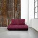 Sofá cama Shin Sano natural, original y divertido sofá cama de diseño confortable. Es un sofá de dos plazas que sin esfuerzo se convierte en una cama doble. - Ítem3