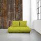 Sofá cama Shin Sano natural, original y divertido sofá cama de diseño confortable. Es un sofá de dos plazas que sin esfuerzo se convierte en una cama doble. - Ítem1