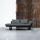 Edge ofrece tres posiciones: diván de dos plazas, chaise-longue y cama individual de 80 x 200 cm. Sus dimensiones reducidas hacen de este modelo una idónea cama auxiliar para espacios pequeños. - Ítem2