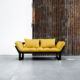 Edge ofrece tres posiciones: diván de dos plazas, chaise-longue y cama individual de 80 x 200 cm. Sus dimensiones reducidas hacen de este modelo una idónea cama auxiliar para espacios pequeños. - Ítem6