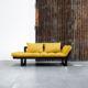 Edge ofrece tres posiciones: diván de dos plazas, chaise-longue y cama individual de 80 x 200 cm. Sus dimensiones reducidas hacen de este modelo una idónea cama auxiliar para espacios pequeños. - Ítem7