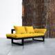 Edge ofrece tres posiciones: diván de dos plazas, chaise-longue y cama individual de 80 x 200 cm. Sus dimensiones reducidas hacen de este modelo una idónea cama auxiliar para espacios pequeños. - Ítem10
