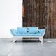 El Diván Cama Edge visón ofrece tres posiciones: diván de dos plazas, chaise-longue y cama individual de 80 x 200 cm. - Ítem1