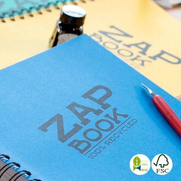 Libreta Zap Book papel reciclado espiral A5