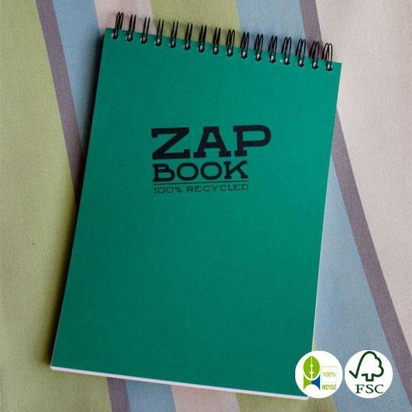 Bloc Zap Book papel reciclado espiral A4