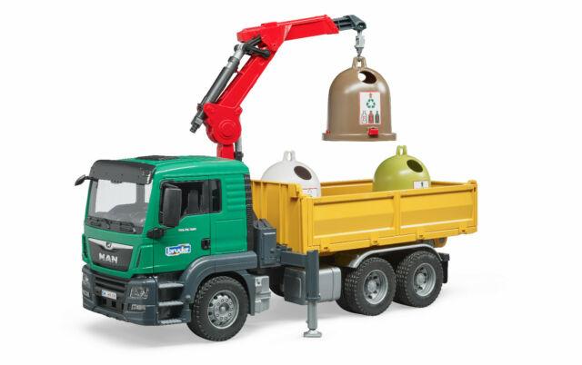 BRUDER 1:16 camion de juguete MAN TGS LKW RECOGIDA SELECTIVA CON 3 CONTAINERS - Ítem1