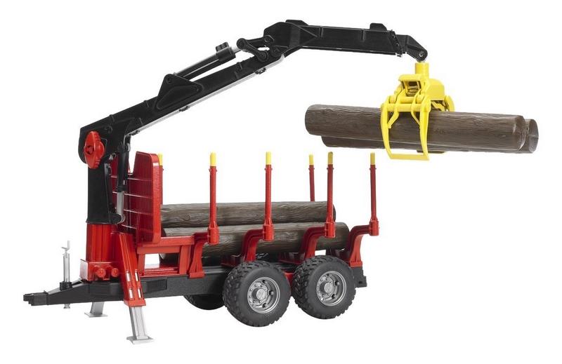 BRUDER 1:16 tractor john deere 7930 con remolque forestal - Ítem4