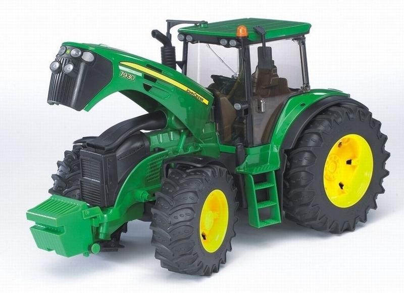 BRUDER 1:16 tractor john deere 7930 con remolque forestal - Ítem1