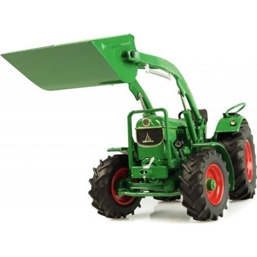 UNIVERSAL HOBBIES 1:32 Tractor DEUTZ-FAHR D6005 4WD CON PALA FRONTAL