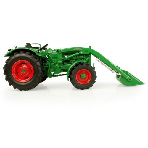 UNIVERSAL HOBBIES 1:32 Tractor DEUTZ-FAHR D6005 4WD CON PALA FRONTAL - Ítem1