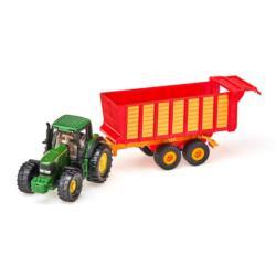 SIKU 1:87 Tractor JOHN DEERE CON REMOLQUE ENSILADOR