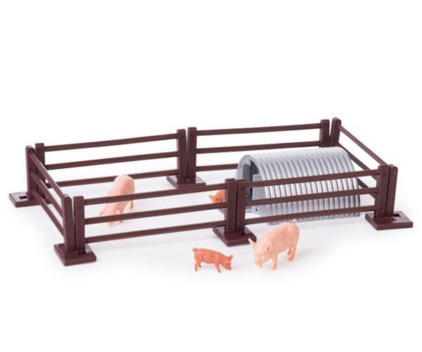 Pack vallas, cobertizo y cerdos Britains 43140