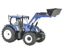 BRITAINS 1:32 Miniatura tractor NEW HOLLAND T6.180 con pala - Ítem1