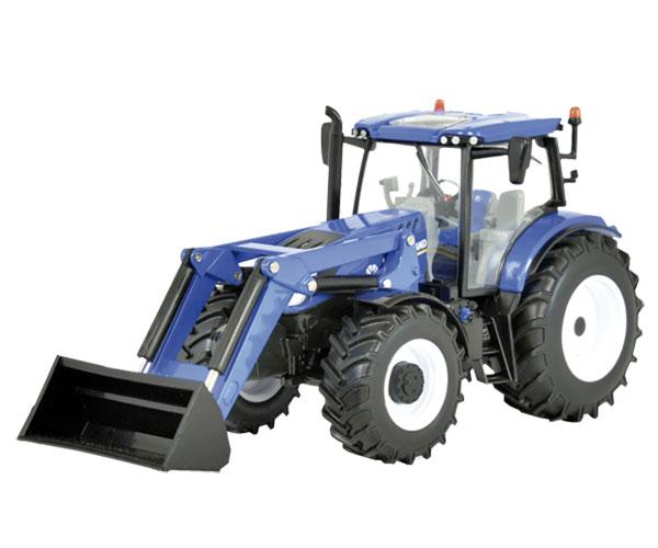 BRITAINS 1:32 Miniatura tractor NEW HOLLAND T6.180 con pala