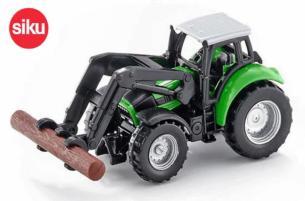SIKU 1:87 Tractor DEUTZ-FAHR CON PALA PARA TRONCOS