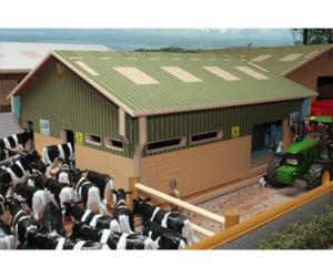 Sala de ordeño de vacas a escala 1:32 Brushwood Toys BT2000