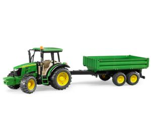 Tractor de juguete JOHN DEERE 5115M con remolque