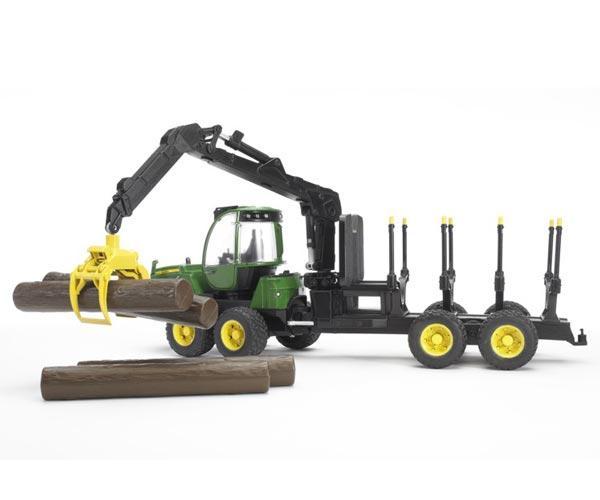 Procesadora de juguete JOHN DEERE 1210E con 4 troncos - Ítem2
