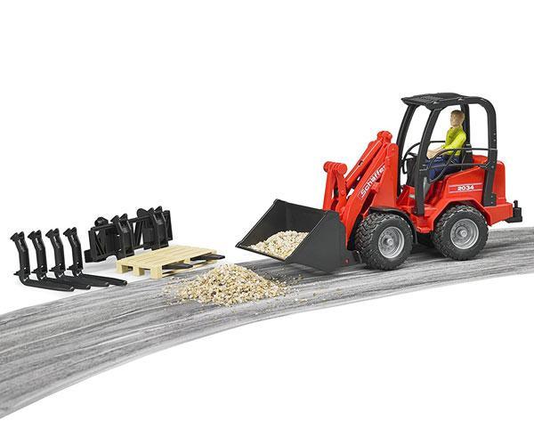 Pala cargadora de juguete SCHAFFER con muñeco y accesorios Bruder 02191 - Ítem5