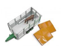 Remolque de juguete para transporte de ganado con 1 vaca Bruder 02227 - Ítem2