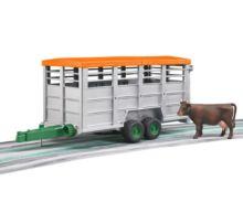 Remolque de juguete para transporte de ganado con 1 vaca Bruder 02227 - Ítem3