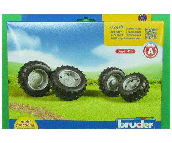 Juego de ruedas gemelas para tractores de juguete Bruder 02316 - Ítem4