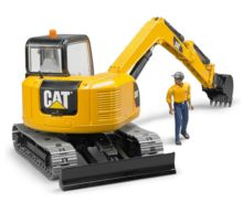 Miniexcavadora de juguete CATERPILLAR con trabajador Bruder 02466 - Ítem3