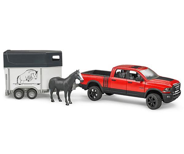 Juguete BRUDER 1:16 Todoterreno RAM 2500 con remolque de caballos y 1 caballo 02501 - Ítem1