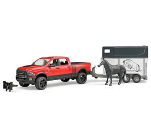 Juguete BRUDER 1:16 Todoterreno RAM 2500 con remolque de caballos y 1 caballo 02501